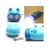 Manual Power Hand Pressing Pig Flashlight