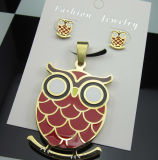 316L Stainless Steel Owl Jewelry Set Fashion Jewelry