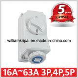 IP67 16A 2p+E Interlocked Socket Switch