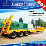 Used Second Hand Tri Axle Goose Neck Low Bed Trailer