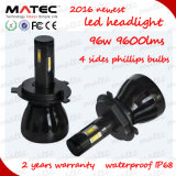 2016 Matec Best Price Multicolor LED Headlight Bulb 9007 H4 H7 9005 9006 Car LED Headlight