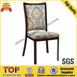 Hotel Wood-Look Restaurant Metal Dining Chair