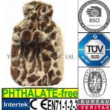 Faux Fur Tiger Plush Hot Water Bottle Cover