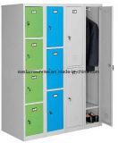 Colorful Changing Room Steel 3 Door Locker with Feet