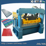 Trapezoidal Profile Metal Wall Plate Cold Roll Forming Machine