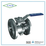 Strainless Steel Full Bore Pn16 2PC Mounting Pad Flange Ball Valve with Sio5211