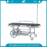 AG-HS016 Stainless Steel Frame Ambulance Stretcher with IV Pole