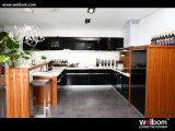 ISO Welbom High Gloss Modern Black Lacquer Finish Kitchen Cabinet