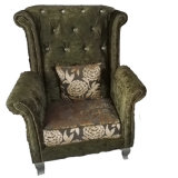 High Quality Tiger Chair Fabric Sofa Chair (2098)