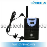 Body-Pack Type Lapel Wireless Microphones for Teacher, Guide, Host