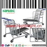 500kg Heavy Duty Warehouse Cargo Trolley Cart with Adjustable Platform