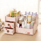 DIY Multi-Functional Wooden Desktop Cosmetic Storage Box