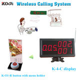 Hospital Menu Holder Remote Control Service Customer Waiting System
