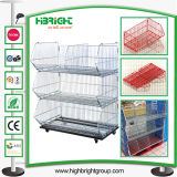 Supermarket Store Promotional Wire Stacking Baskets