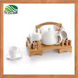 Bamboo Ceramic Coffee Cup Set Drink Set