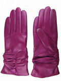 Lady Fashion Leather Gloves (JYG-24002)