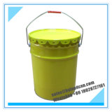 20liters Yellow Metallic Pail for Packaging Paint