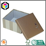 Silver Flower Logo Rigid Cardboard Paper Gift Box