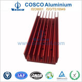 Red Anodized Aluminium Alloy for Home Application Heatsink