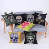 Digital Print Decorative Cushion/Pillow with Skulls Pattern (MX-82)