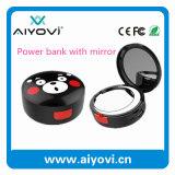 4000mAh Round Shape Cute Make-up Mirror Power Bank