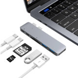 "Type-C Multi-Port Hub with Type C Charging Port, 2 USB 3.0 Extension Ports, 1 SD Card and 1 Micro Card Reader for MacBook PRO 13"" and 15"""