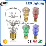 Free Sample UL 3W 110V 220V ST64 LED Light Bulb Colorful Light