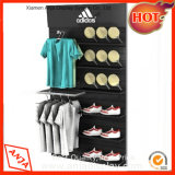 Clothing Store Wall Display Racks with Shoe Holder for Shop