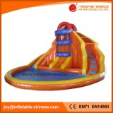 Inflatable Amusement Slide with Pool for Summer (T11-308)