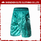 Latest fashion Sublimated Printing Green Soccer Shorts (ELTSSI-14)