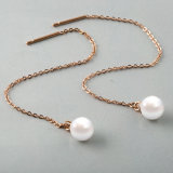 Elegant Women Jewelry Fashion Pearl Long Drop Earrings