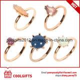 Latest 5PCS/Set Gem Golden Beauty Women Ring Set