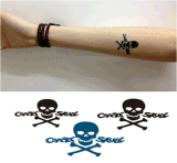 Fashionable Skull Temporary Water Transfer Body Tattoo Stickers