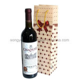 PP Plastic Milky White Frosted Red Wine Gift Bag