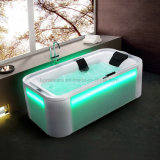 Long Freestanding Massage Bathtub with LED Light (K1292)