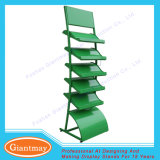 5 Tiers Wave Style Metal Floor Stand Grass Display Rack