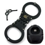 Carbon Steel Genuine Leather Pouch Handcuff