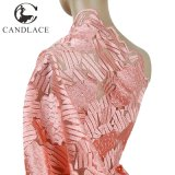Wholesale Peach African French Lace Fabric