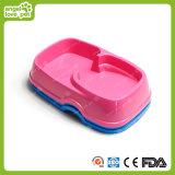 Double Used Plastic Environmental Pet Feeder Bowl (HN-PB832)