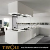Fashion Prefab White Modern Kitchen Cupboards with Custom design Tivo-0002h