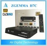 2017 Best 4k Uhd Kodi TV Box Zgemma H7c Arm Dual Core Multistream Combo Box Hevc/H. 265 DVB-S2X+2*DVB-T2/C Triple Tuners