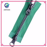 Plastic Fluorescent Color Zipper with Double Silder