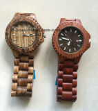 Zebrawood Gift Watch Analog Quartz Handmade Wooden Wrist Watch