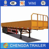 Factory Sales 3 Axle 40tons New Used Flatbed Container Cargo Trucks Trailer with Side Wall for Sale