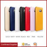 Classic Design Soft PU Leather Phone Bumper Case, PU Case Shell for Samsung Note 5 7