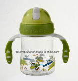 260ml Gift Item, Baby Bottle with Strew, Baby Feeding Bottle, Green Color Water Bottle