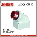 IP44 4p 16A Surface Mounted Plug for Industrial