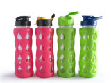 2013 Fashionable Glass Water Bottle with Silicone (KD-206)