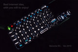 New 2013 Ver RII Ultra Mini 2.4G Wireless Keyboard with Touchpad & Laser Pointer Rechargeable Li-ion for PC/ PS3/Android Google TV Box/ Smart TV/HTPC/ IPTV