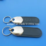Metal PU Leather Key Chain